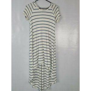 Lazy Sundays White Stripe Hooded Dress Size S